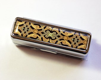 Mosaic lipstick case, case for lipstick, Lipbalm Case, Lipstick case with mirror, Lipstick Case, lipstick holder, Mothers Day Gift (4859)
