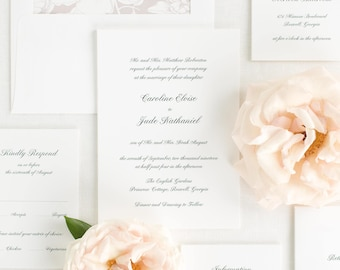 Caroline Wedding Invitation - Deposit