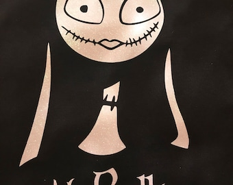 His Sally, nightmare before christmas shirt, sally and jack, matchinh shirts, glitter, Disney shirt