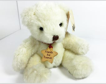 Vintage RUSS Bear with Original Tag/ Vintage Teddy Bear/ Russ Berrie Teddy Bear