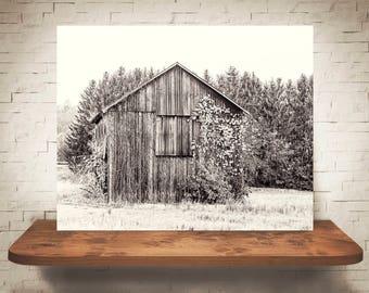Barn Photograph - Fine Art Print - Sepia Photography - Wall Art - Wall Decor -  Barn Pictures - Farmhouse Decor - Old Weathered Barn