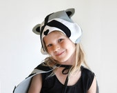Raccoon PATTERN DIY costume mask girl sewing instant download woodland animals ideas for kids baby children easter holiday Halloween gift