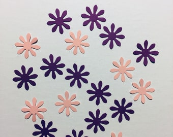 300 Pink and Purple Flower Confetti