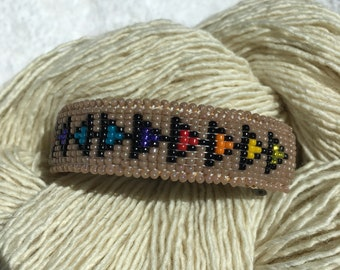 Native American beaded barrette