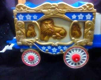 Vintage Jim Beam Holiday Bottle in a Lion Circus Train Car