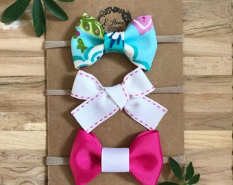 Bow set Little girls bows Baby Bows Baby Headbands