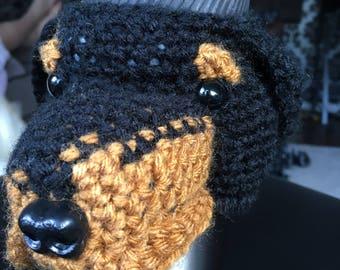Rottweiler mug cozy, rottweiler, Mug Cozy, Mug Warmer, Coffee Mug Warmer, Mug Sweater, Coffee Sleeve, Tea Mug Dog, Dog Cozies, Tea Cozy