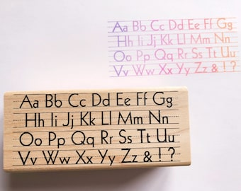 Upper and Lowercase Alphabet Rubber Stamp
