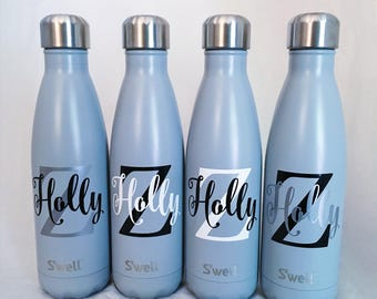 Personalized Swell Bottle - Big Initial and Name, S'well Bottle, Swell Bottle, Monogram S'well Bottle