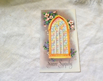 1950s NOS Sympathy Card with Envelope