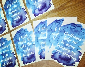 10 x Affirmation Cards for Stress Relief