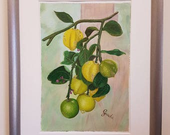 Life gave me lemons...  Original still life in oil, varnished and ready to frame.