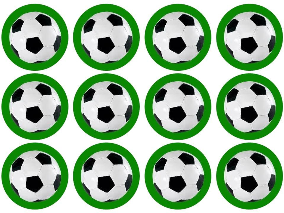 Soccer Ball Edible Sugar Decorations Beauteous 15 Football Soccer Cupcake Toppers Edible Inspiration Design