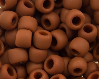 """Opaque Frosted Terra Cotta Toho Seed Bead 6/0 2.5"""" Tube TR-06-46LF/C"""
