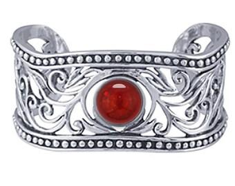 Cremation Bracelet, Sterling Silver Filigree Cuff Bracelet with Ash Encased 12mm Cabochon, Made to Order, Ash Bracelet