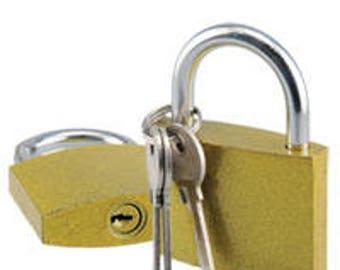 Small Padlock and Keys.