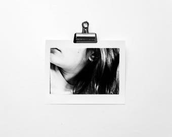 Abstract Girl, Abstract Portrait Photography, Black and White, Handprinted in Darkroom, Silver Gelatin 8x10 Print