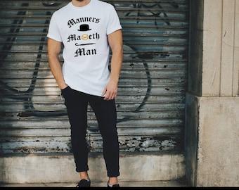 Kingsman Tshirt T-shirt Manners Maketh Man Boyfriend Gift