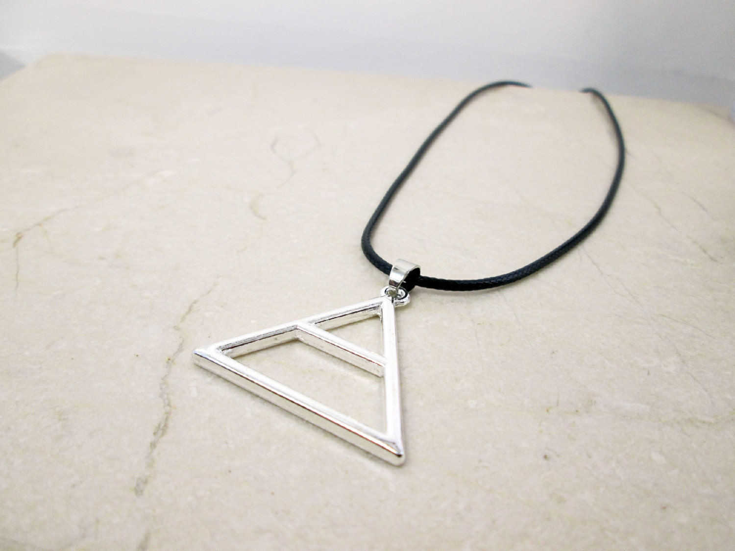 Silver triangle necklace mars fandom necklace air symbol zoom buycottarizona