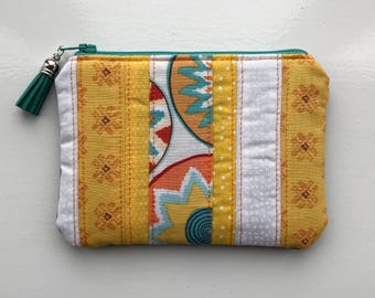 Purse, Zipper Pouch, Pouch, Patchwork Purse, Patchwork Pouch, Sunny, Bright, Mother's Day