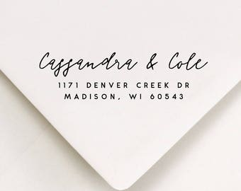 Custom Return Address Stamp - Return Stamp For Addressing Invitations - Stationery Return Stamp - Gift Idea From Mom -Invite Stamp(255)