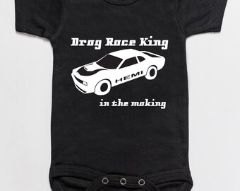 Drag Race King in the making baby bodysuit romper black