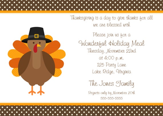 items similar to printable thanksgiving dinner party invitation on etsy