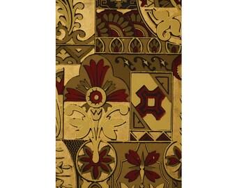 Regal Aesthetic Antique Wallpaper Accent Panel-Fleur de lis