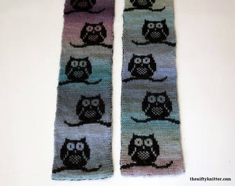 Knitting Pattern - Parliament of Owls Scarf