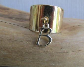 Initial B Sterling Ring