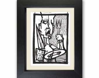 Original Artwork, Drawing, Freehand, Limited Edition, Neil Rumary, Pen and Paper