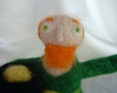 Needle Felted St. Patrick's Day Leprechaun - Small
