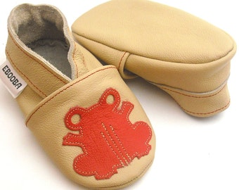 SALE -50%,Baby Shoes,Ebooba,Soft Sole,Crib Shoes,Leather Baby Shoes,Lauflernschuhe,Chaussures,Frog Slippers,Gift Baby Moccasins,FR-5-BE-M-1