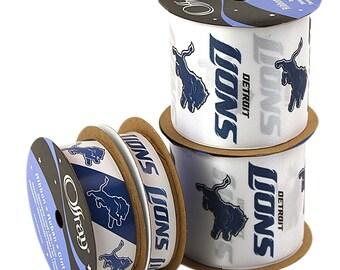 NFL Detroit Lions, 4-pack of Ribbon, Licensed NFL Offray Ribbon