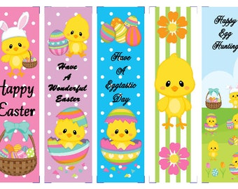 Easter Chicks Egg Party Book Marks
