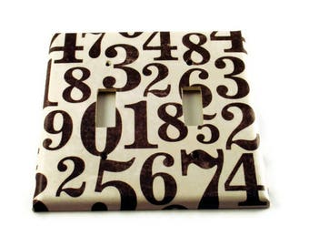 Wall Plates Double Switchplate  Light Switch Cover Switch Plate in Lucky Number  (126D)