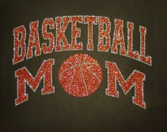 Women's Glitter Bling Basketball Mom shirt