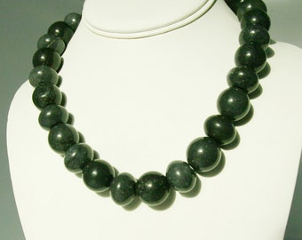 Unique Black Jade Necklace