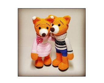 crochet amigurumi pattern fox couple