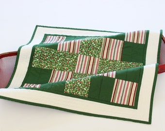 Square Table Topper, Quilted Table Runner, Floral Tablecloth, Wall Art Quilt, Candle Mat