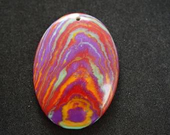 Multicolor oval shape GEMSTONE PENDANT