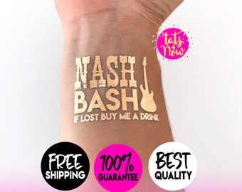 Nash bash bachelorette party tattoos // if lost buy me a drink  // nashelorette // nashville party // nashville bachelorette // by Tats4now
