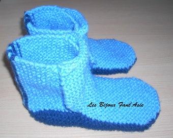 Shoe Boot Blue Boy wool size 34/35