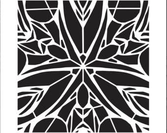 Artistcellar stencil (Black Orchid) Kaleidoscope Series