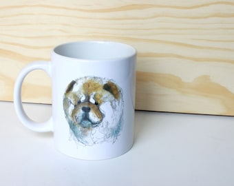 Chow chow Cup/mug, design unique original, illustrations, illustrated mugs, limited edition