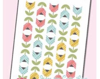 Dutch Tulips Quilt Pattern by It's Sew Emma using Sugar Pie Fabrics from Lella Boutique for Moda Fabrics