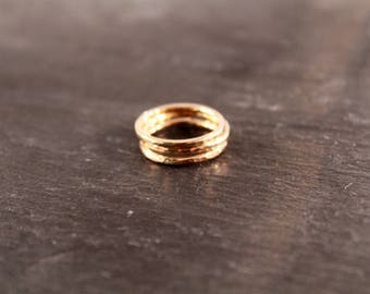 Thick 14K Gold Filled Stacking Ring Set- 3+ RINGS (Simple Minimalist Gifts for Her Under 50)