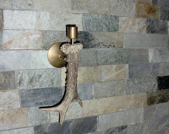 Candlestick, deer horn, unique