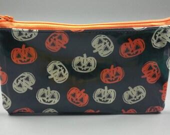Halloween Pumpkin Vinyl Wallet