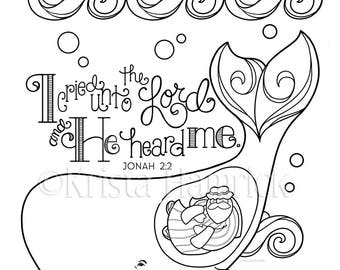 jonah and the whale coloring page 85x11 bible journaling tip in 6x8 - Jonah And The Whale Coloring Pages